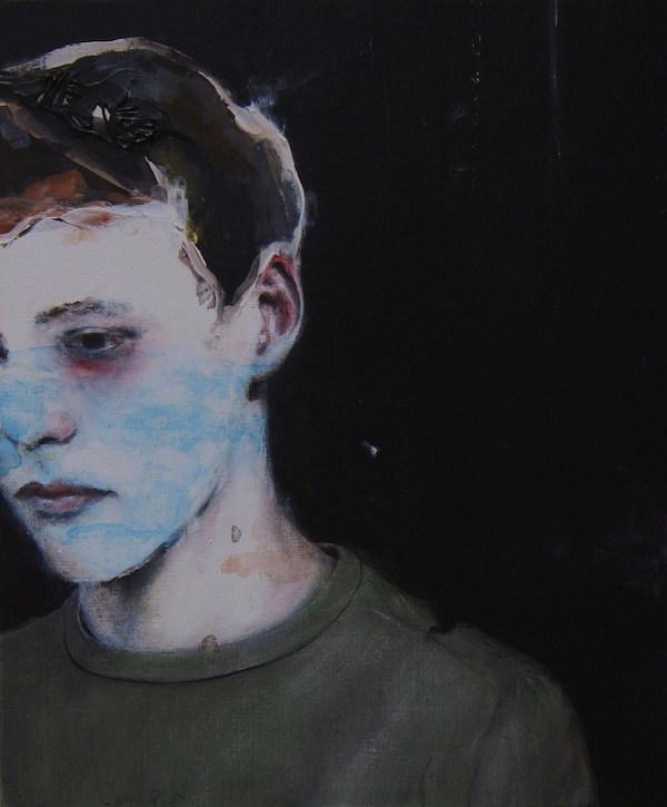 Antoine Cordet canvas toile peinture painting portrait art artist artiste peintre acrylic Why your books are alive
