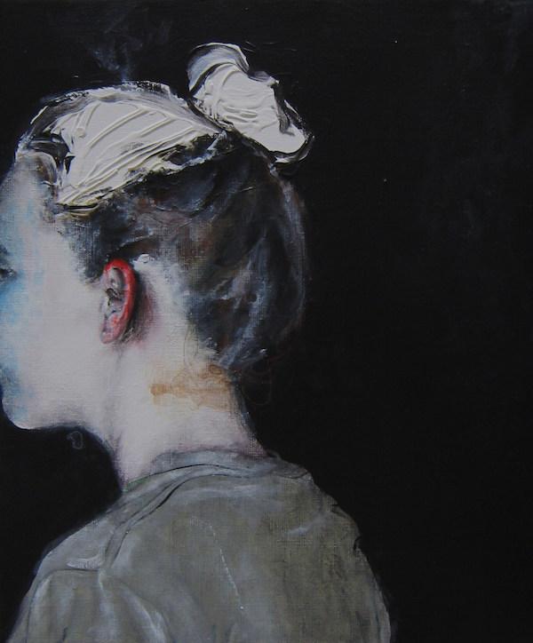Antoine Cordet canvas toile peinture painting portrait art artist artiste peintre acrylic Little soul weapon