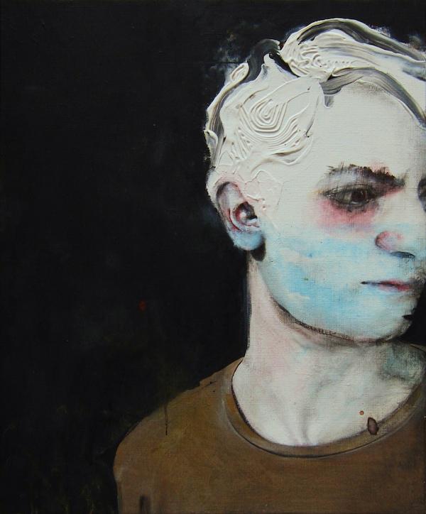 Antoine Cordet canvas toile peinture painting portrait art artist artiste peintre acrylic Gray night is rare