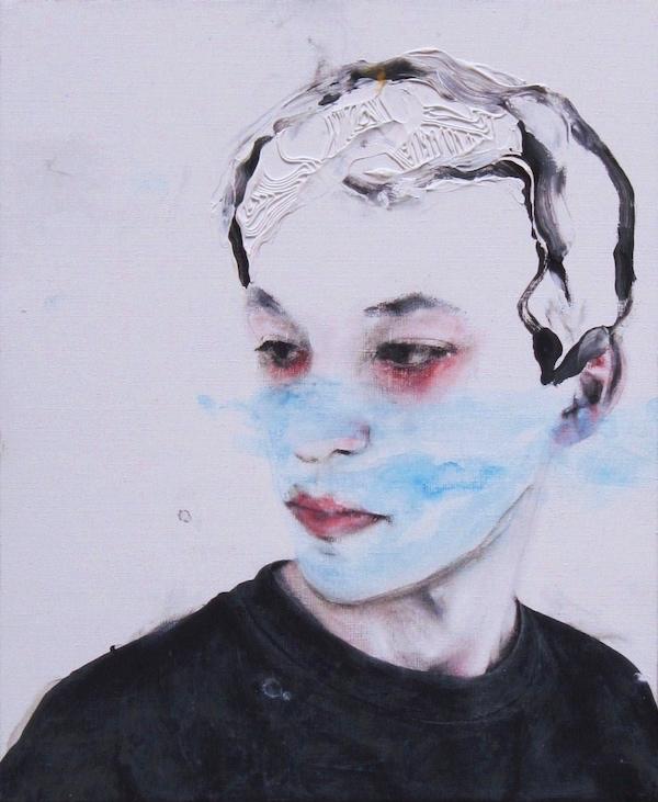 Antoine Cordet canvas toile peinture painting portrait art artist artiste peintre acrylic Mineral water