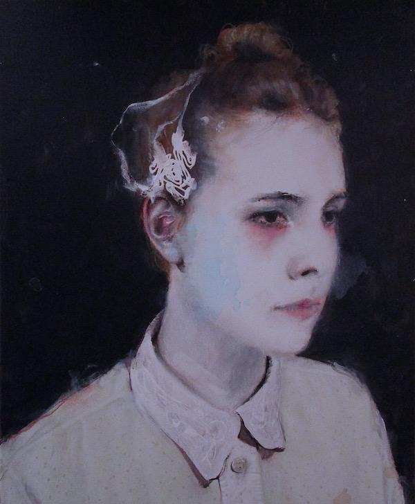 Antoine Cordet canvas toile peinture painting portrait art artist artiste peintre acrylic Gagarine bullets in stomach