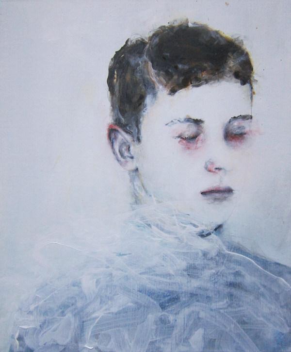 Antoine Cordet canvas toile peinture painting portrait art artist artiste peintre acrylic Czech chapter compound