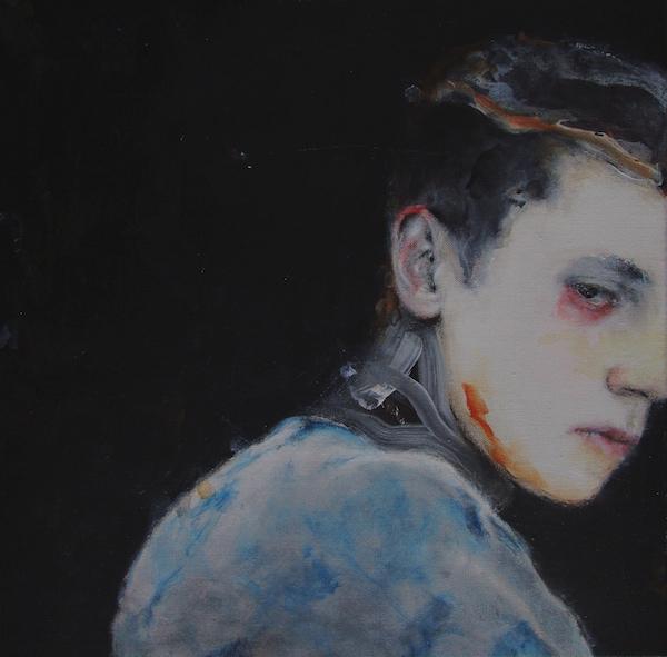 Antoine Cordet canvas toile peinture painting portrait art artist artiste peintre acrylic Continental drift's chatter