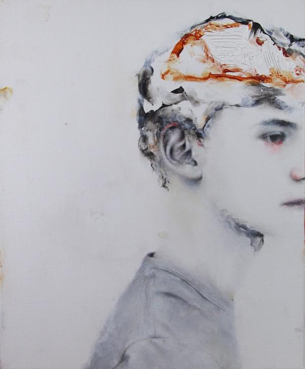 Antoine Cordet canvas toile peinture painting portrait art artist artiste peintre acrylic Without king's thorax