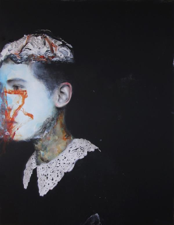 Antoine Cordet canvas toile peinture painting portrait art artist artiste peintre acrylic Despite the chamber orchestra