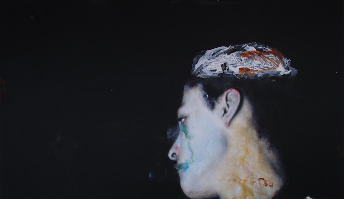 Antoine Cordet canvas toile peinture painting portrait art artist artiste peintre acrylic Ultra Maryland