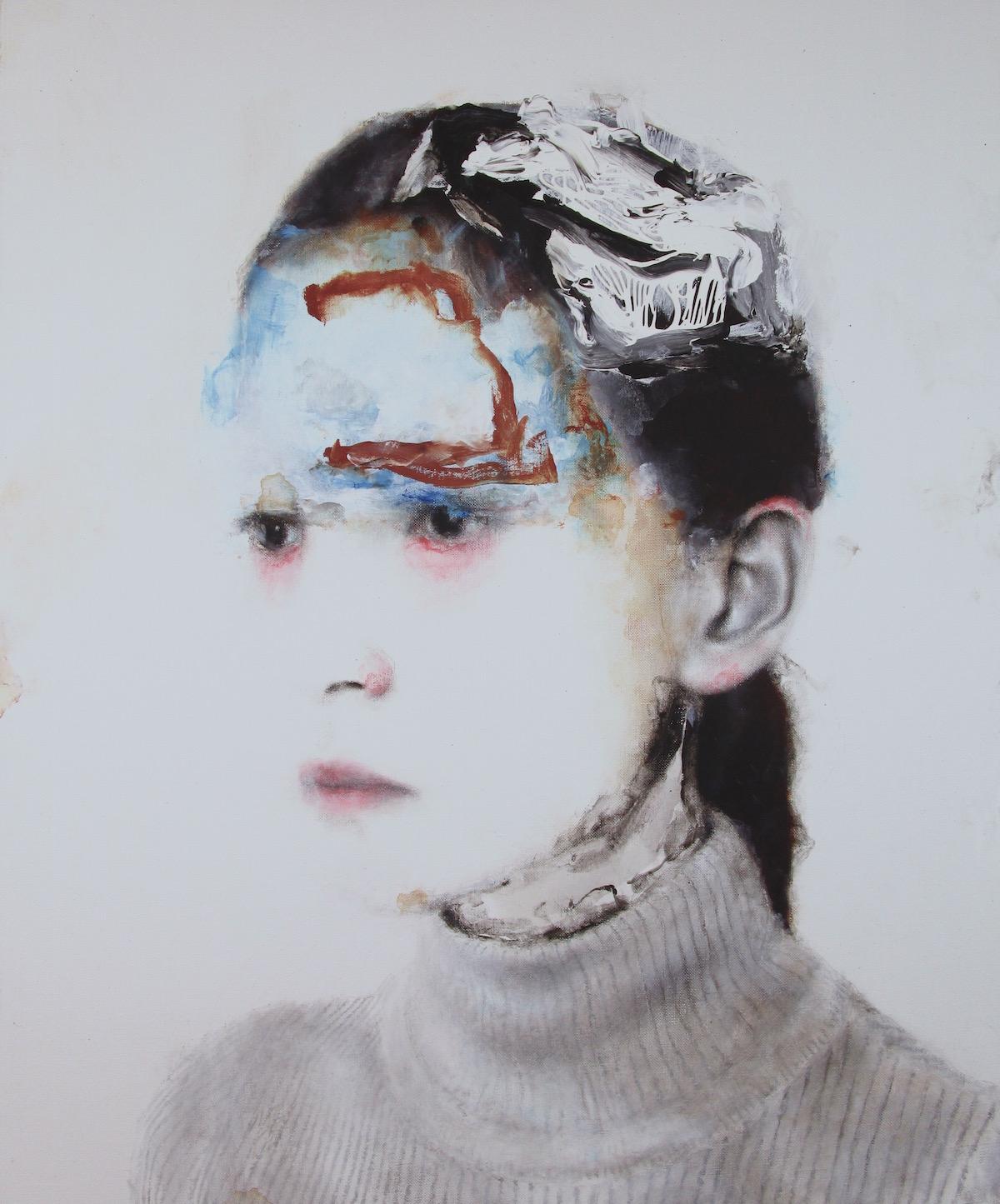 Antoine Cordet canvas toile peinture painting portrait art artist artiste peintre acrylic Good luck Vade-mecum
