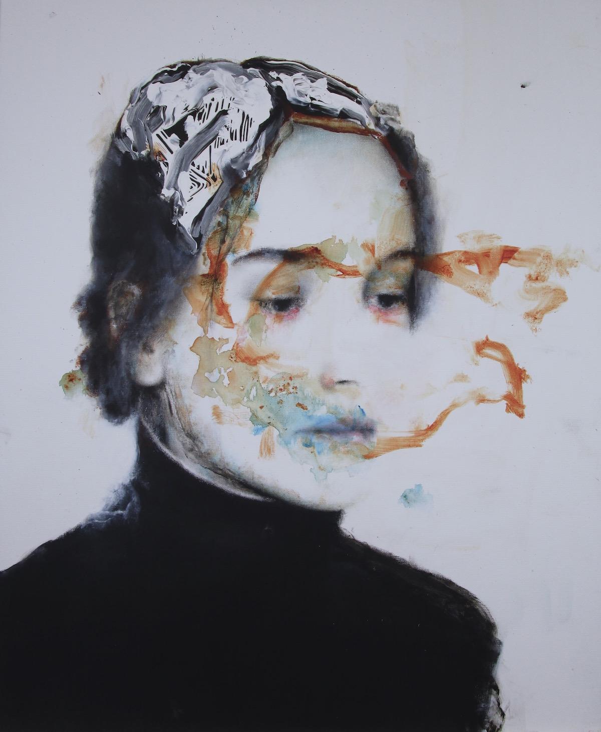 Antoine Cordet canvas toile peinture painting portrait art artist artiste peintre acrylic The three arms dialect