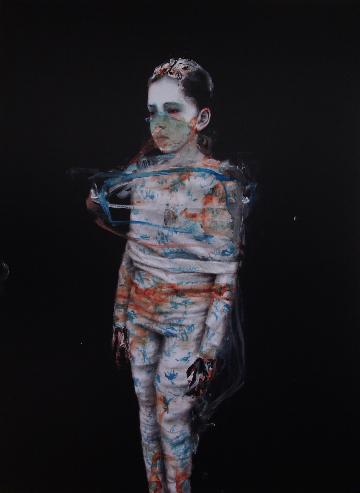 Antoine Cordet canvas toile peinture painting portrait art artist artiste peintre acrylic windows 98