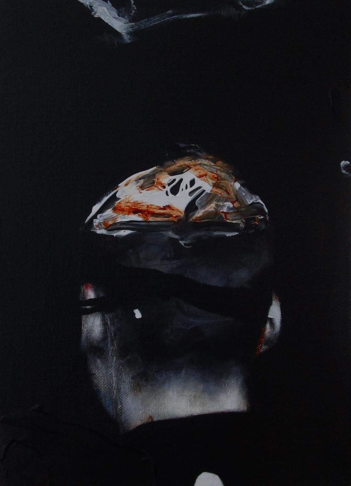 Antoine Cordet canvas toile peinture painting portrait art artist artiste peintre acrylic acapulco