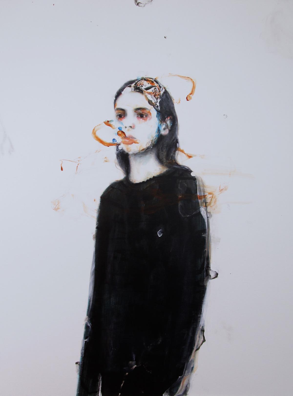 Antoine Cordet canvas toile peinture painting portrait art artist artiste peintre oil acrylic nascar