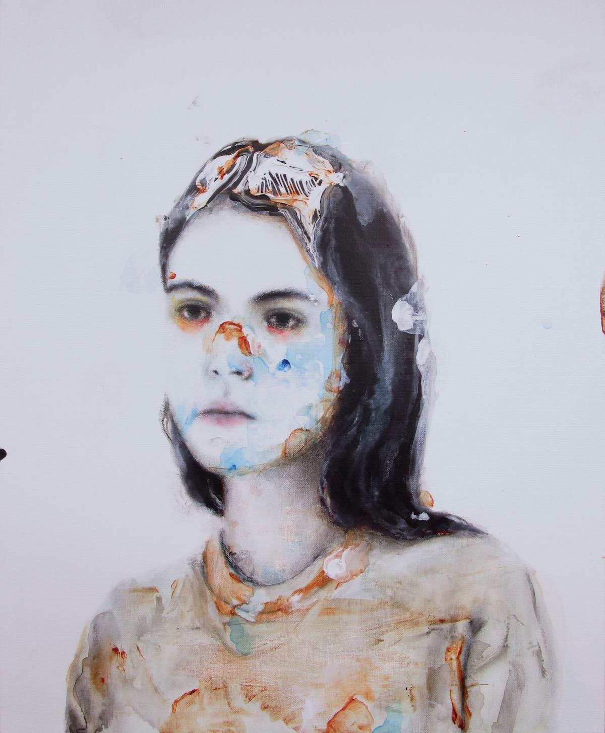 antoine cordet canvas toile peinture painting portrait art artist artiste peintre acrylic oil parachute