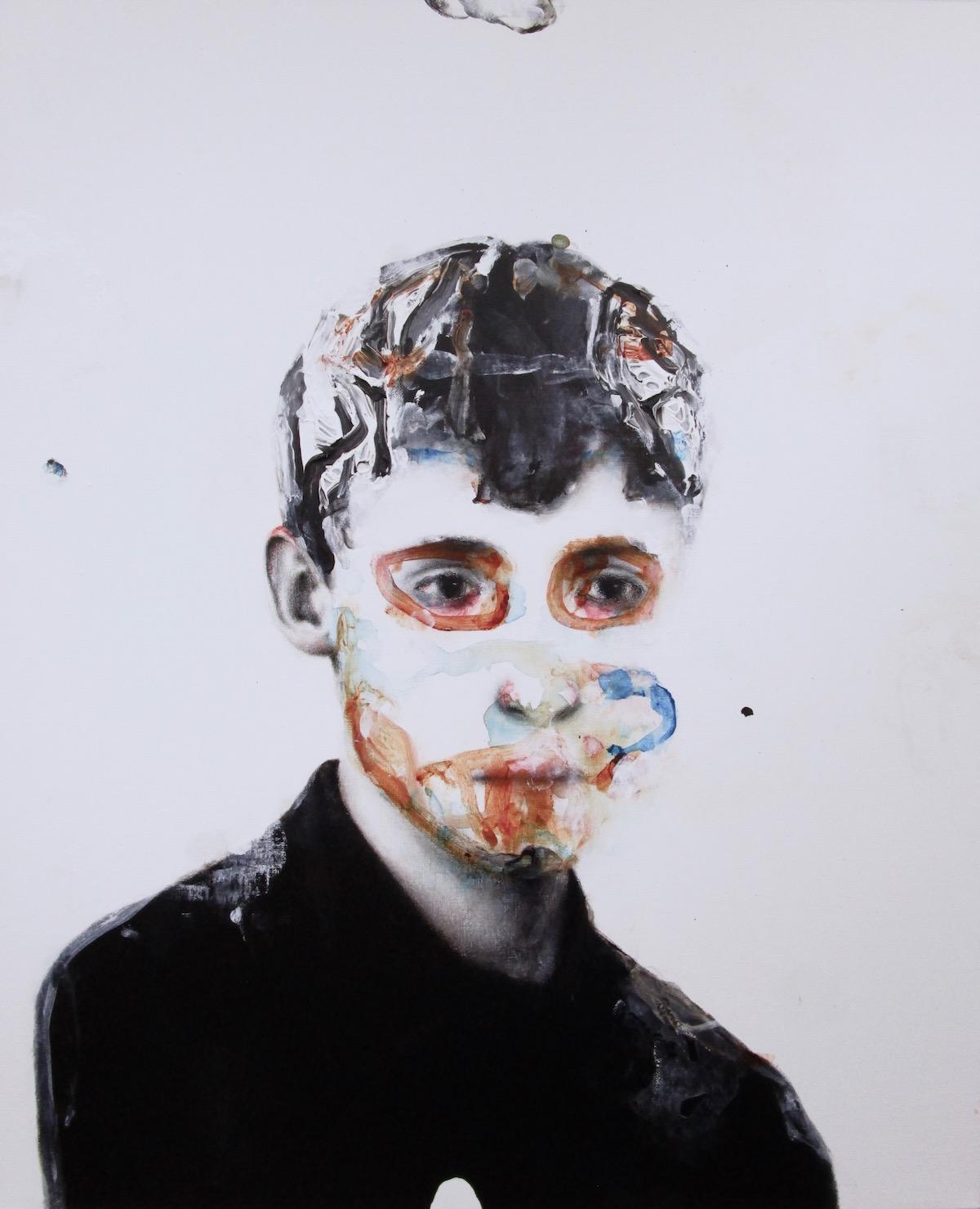 antoine cordet canvas toile peinture painting portrait art artist artiste peintre acrylic oil keep the crown in your hand