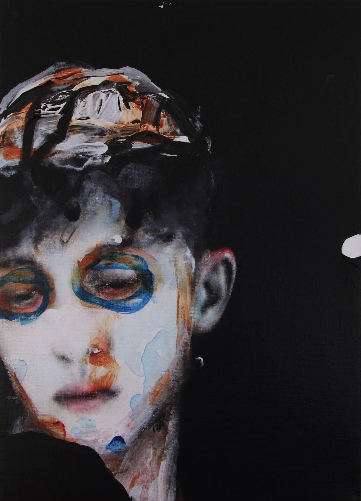 antoine cordet canvas toile peinture painting portrait art artist artiste peintre acrylic oil plastic remedy