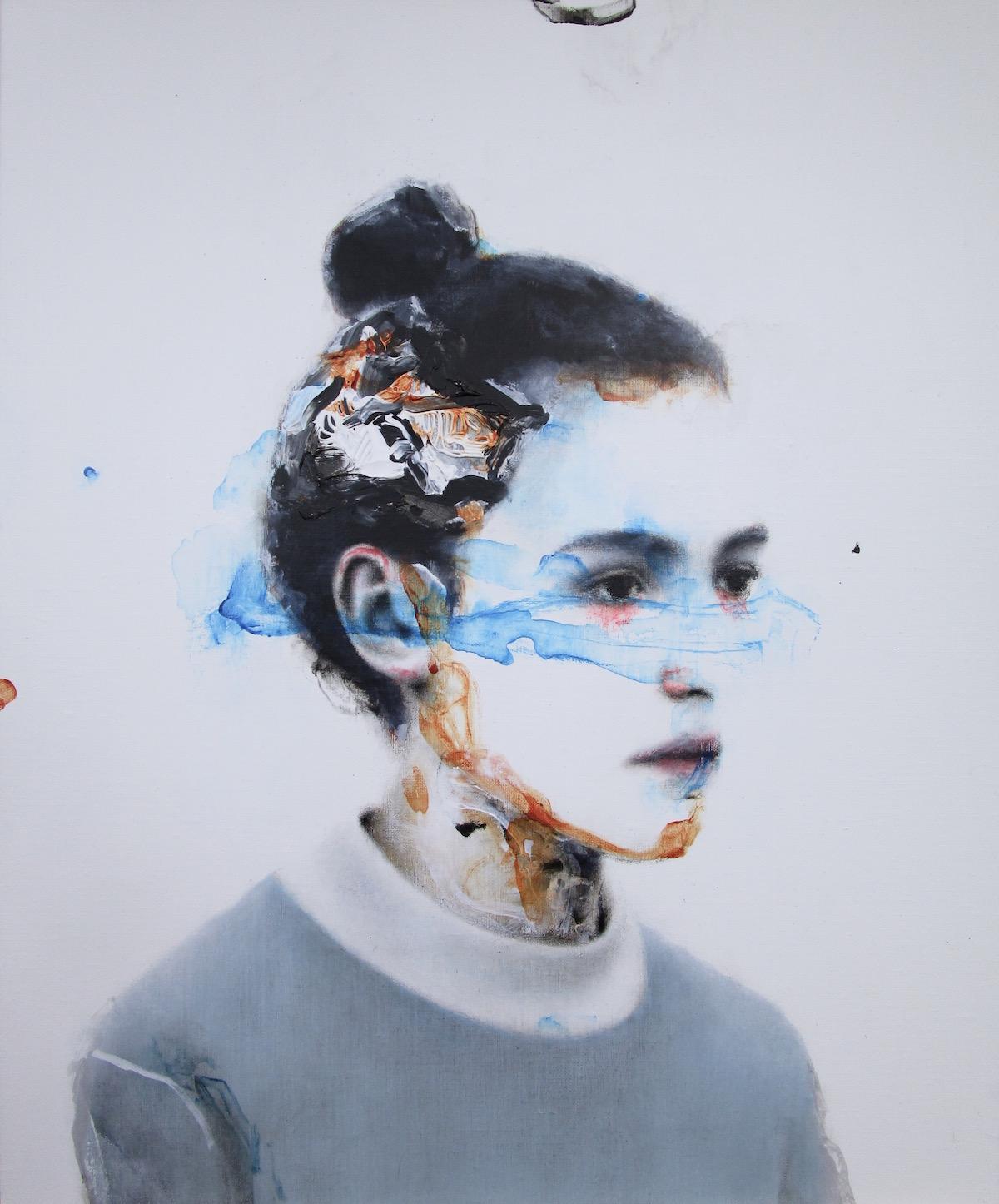 antoine cordet canvas toile peinture painting portrait art artist artiste peintre acrylic oil one thousand minutes