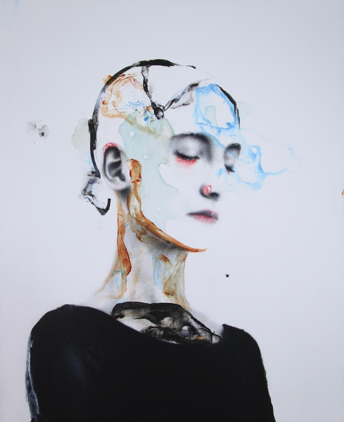 antoine cordet canvas toile peinture painting portrait art artist artiste peintre acrylic oil liquid bell