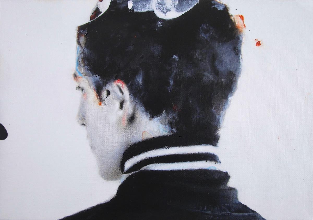 antoine cordet canvas toile peinture painting portrait art artist artiste peintre acrylic oil ghost party