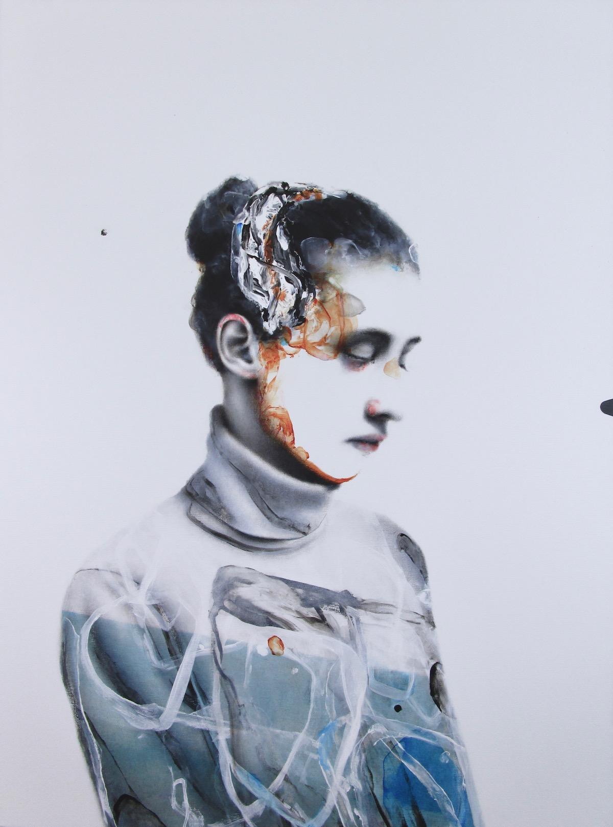 antoine cordet canvas toile peinture painting portrait art artist artiste peintre acrylic oil convergence phenomenon