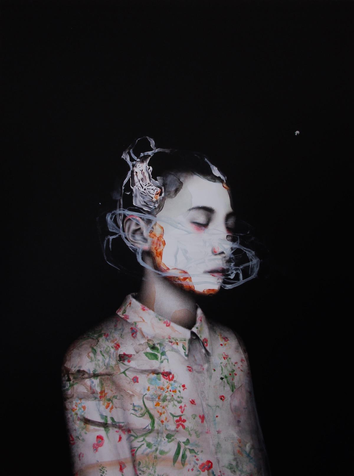 antoine cordet canvas toile peinture painting portrait art artist artiste peintre acrylic oil mercurial hand