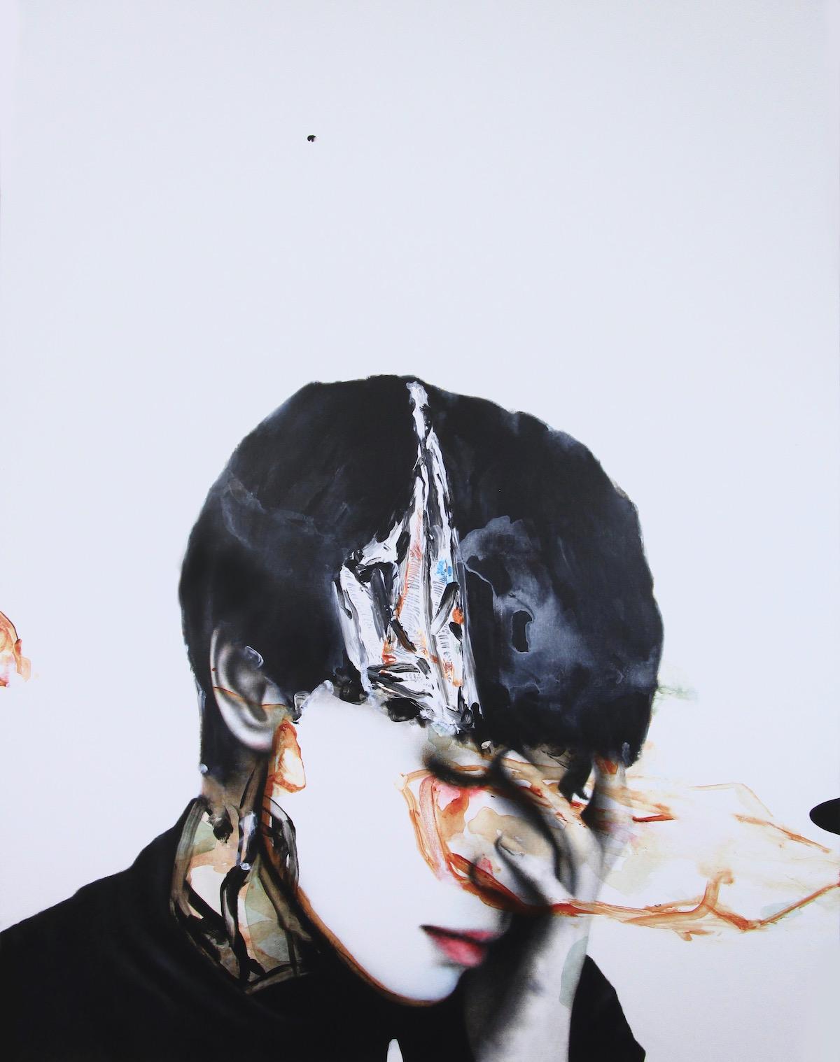 antoine cordet canvas toile peinture painting portrait art artist artiste peintre acrylic oil that's the fire I lit