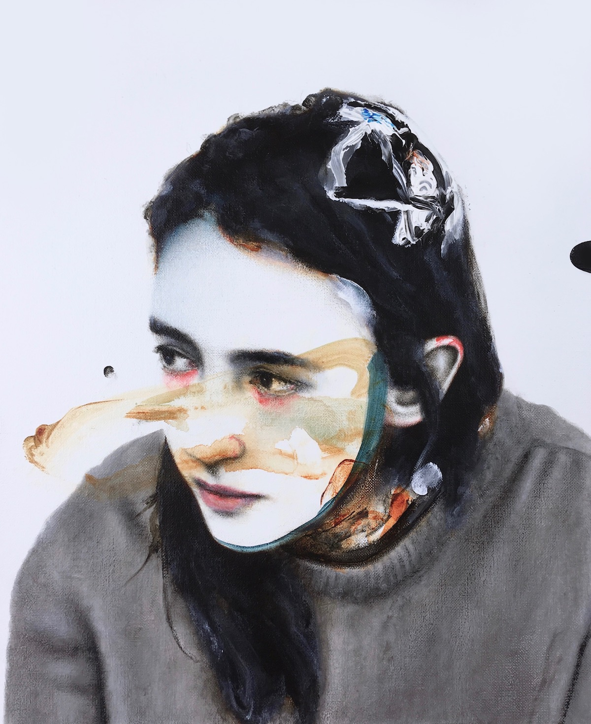 antoine cordet canvas toile peinture painting portrait art artist artiste peintre acrylic oil the senseless speech