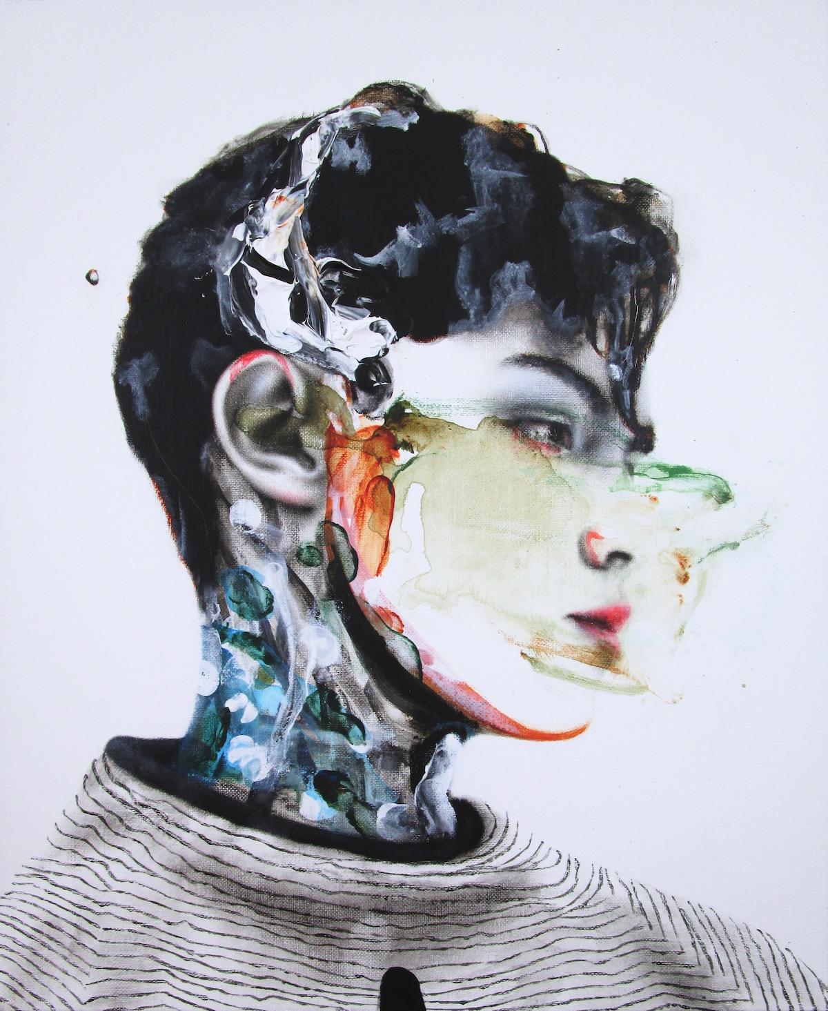 antoine cordet canvas toile peinture painting portrait art artist artiste peintre acrylic oil my delicate punch