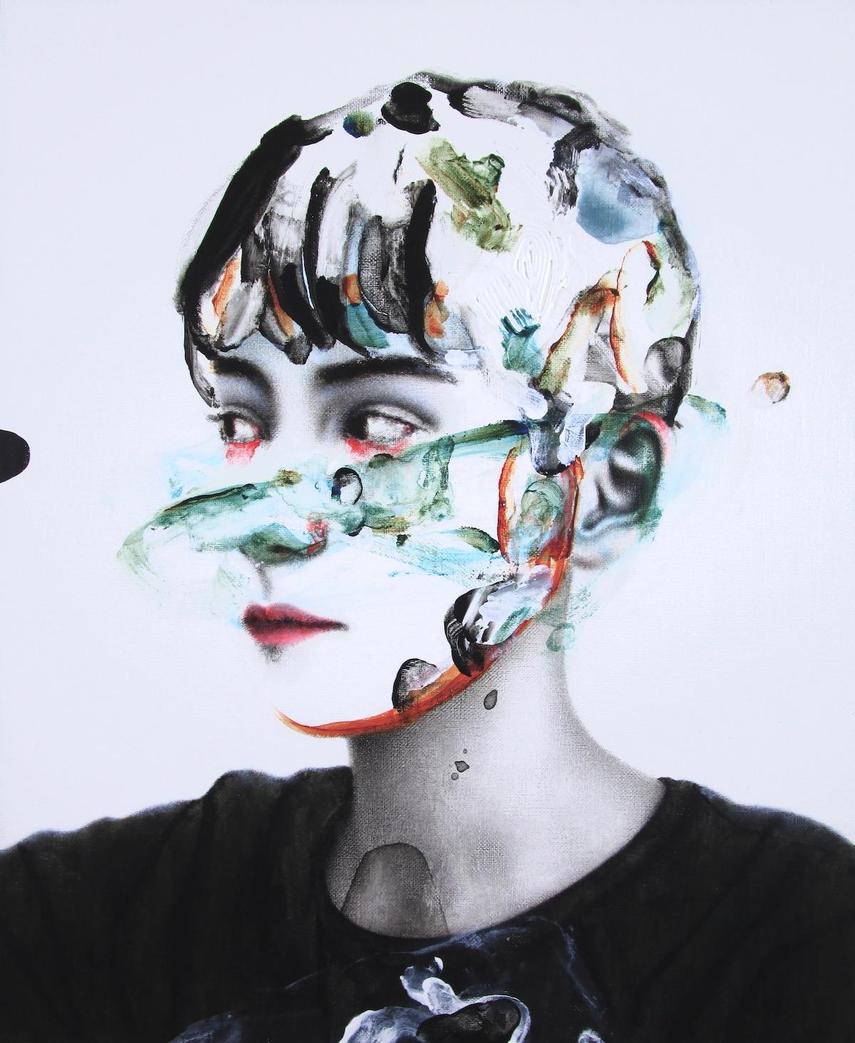 antoine cordet canvas toile peinture painting portrait art artist artiste peintre acrylic oil we'll escape yesterday