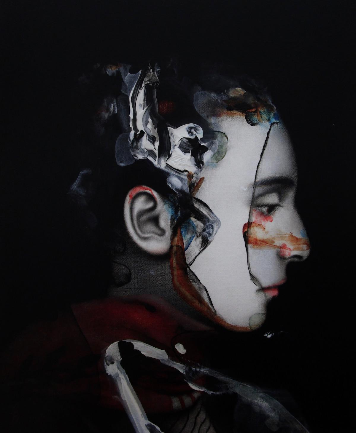 antoine cordet canvas toile peinture painting portrait art artist artiste peintre acrylic oil mineral water II