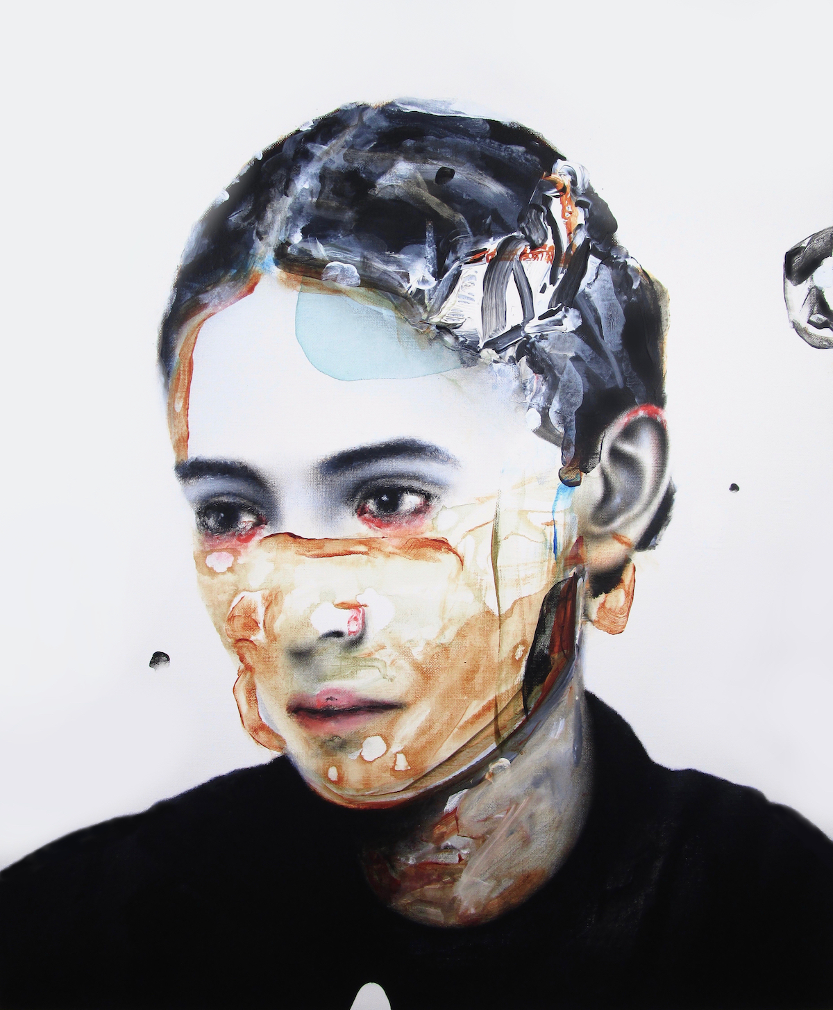 antoine cordet canvas toile peinture painting portrait art artist artiste peintre acrylic oil the habit of losing life