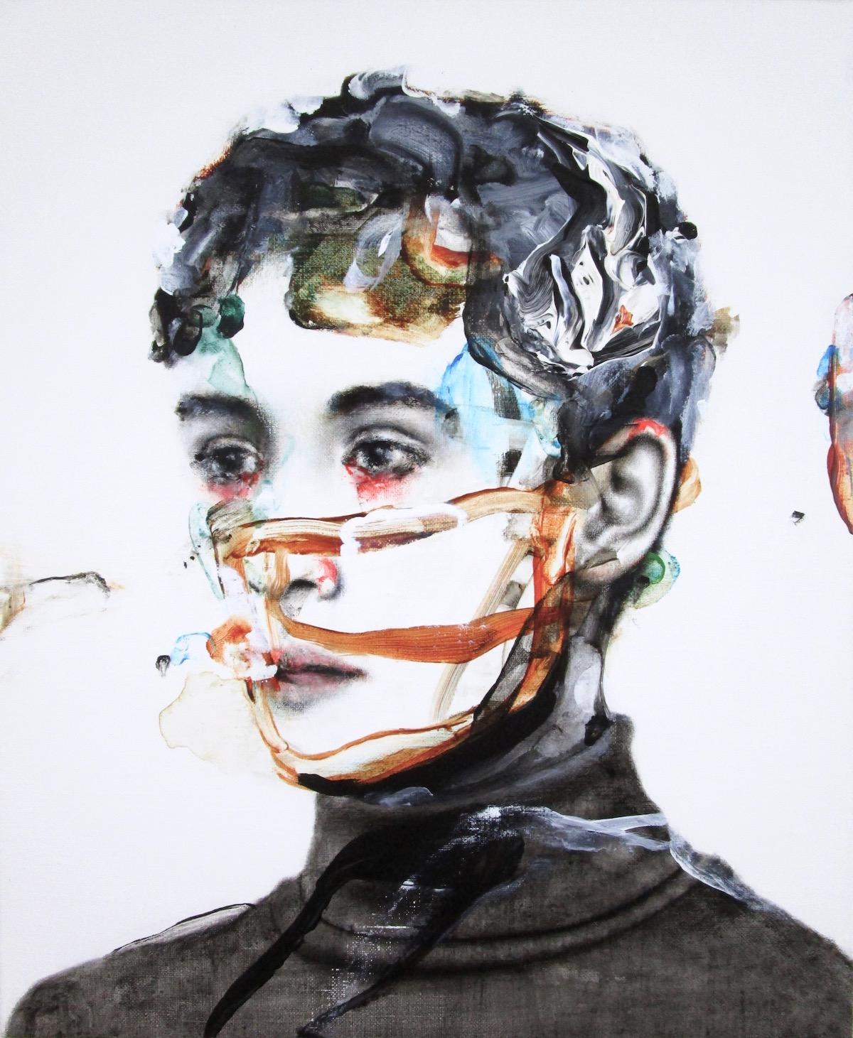 antoine cordet canvas toile peinture painting portrait art artist artiste peintre acrylic oil a new kind of water