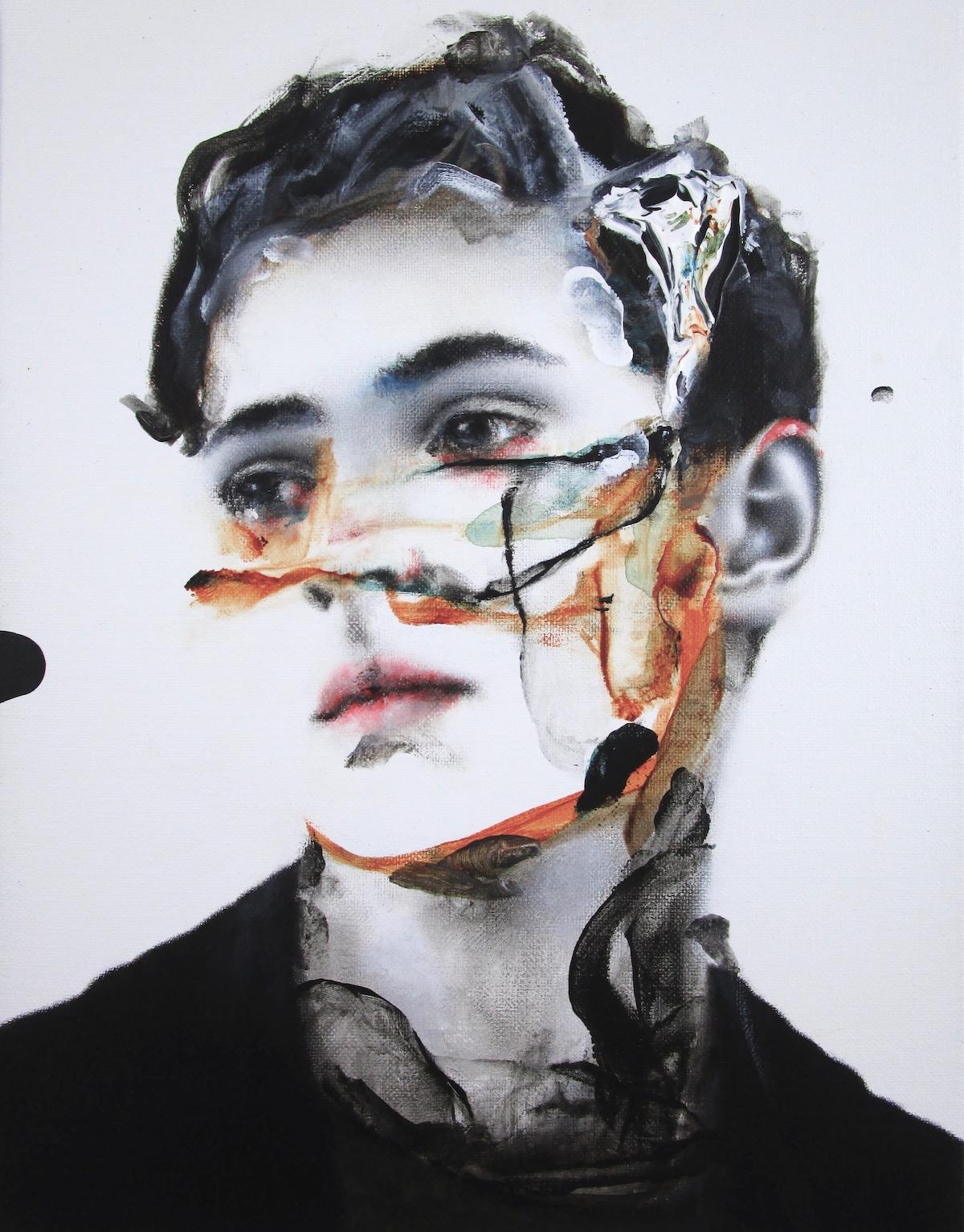 antoine cordet canvas toile peinture painting portrait art artist artiste peintre acrylic oil a knife in the back