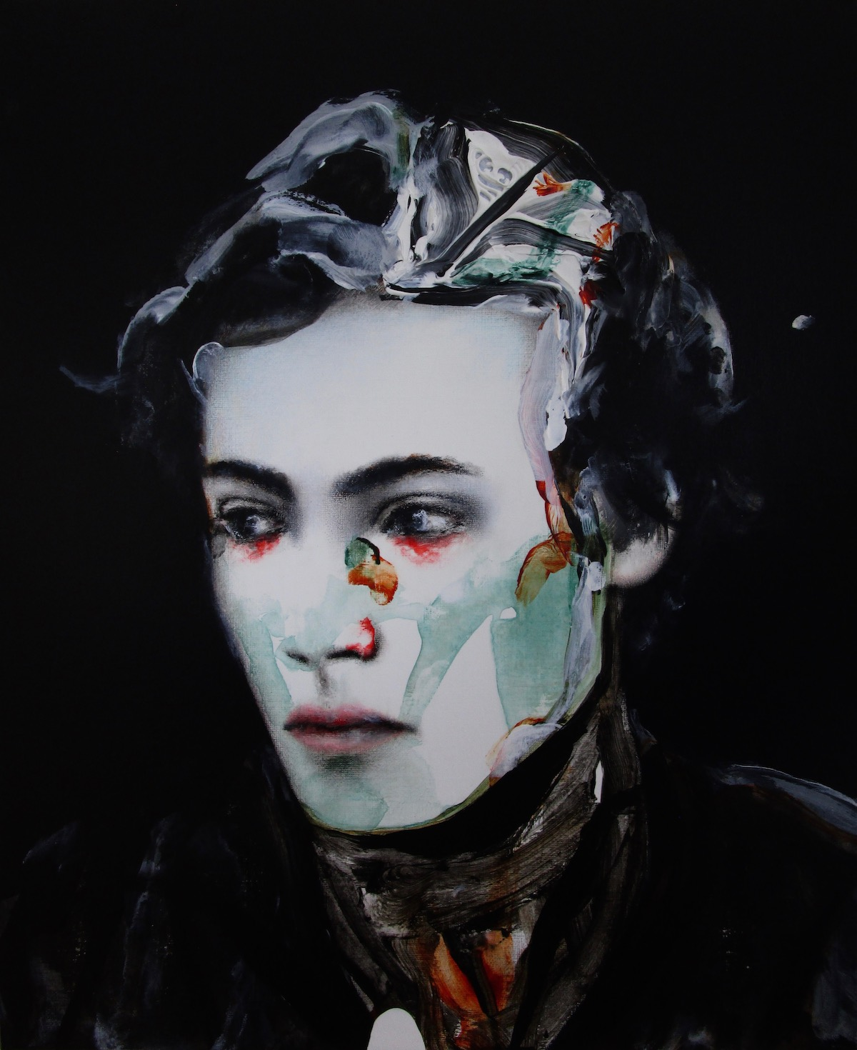 antoine cordet canvas toile peinture painting portrait art artist artiste peintre acrylic oil but beautifully weird