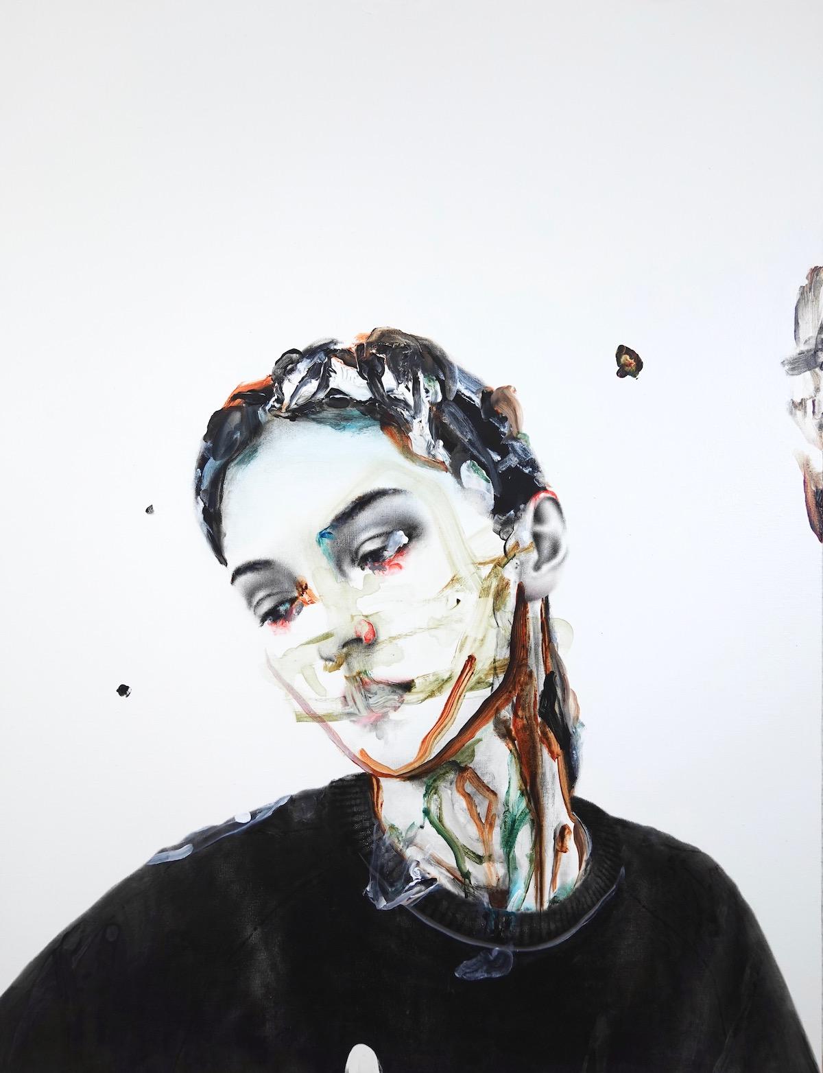 antoine cordet canvas toile peinture painting portrait art artist artiste peintre acrylic oil violence like a rainbow