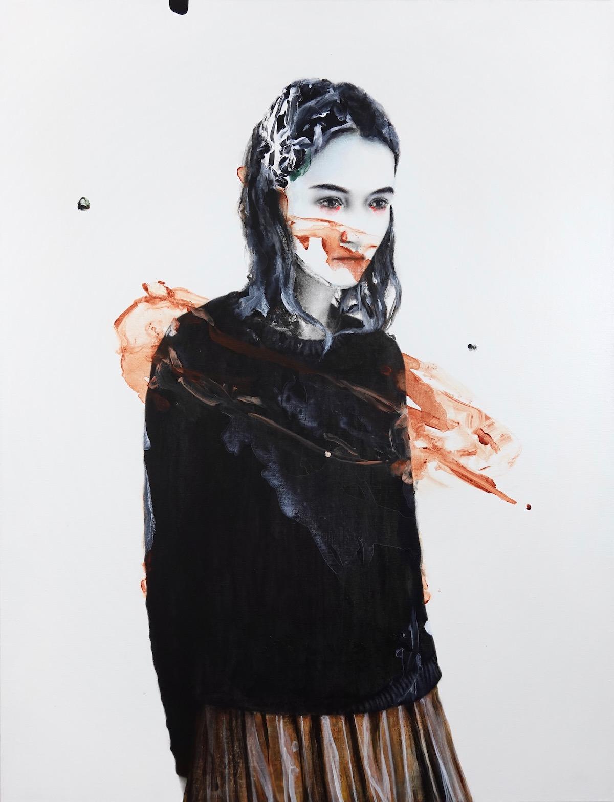 antoine cordet canvas toile peinture painting portrait art artist artiste peintre acrylic oil nocturnal hitchcock
