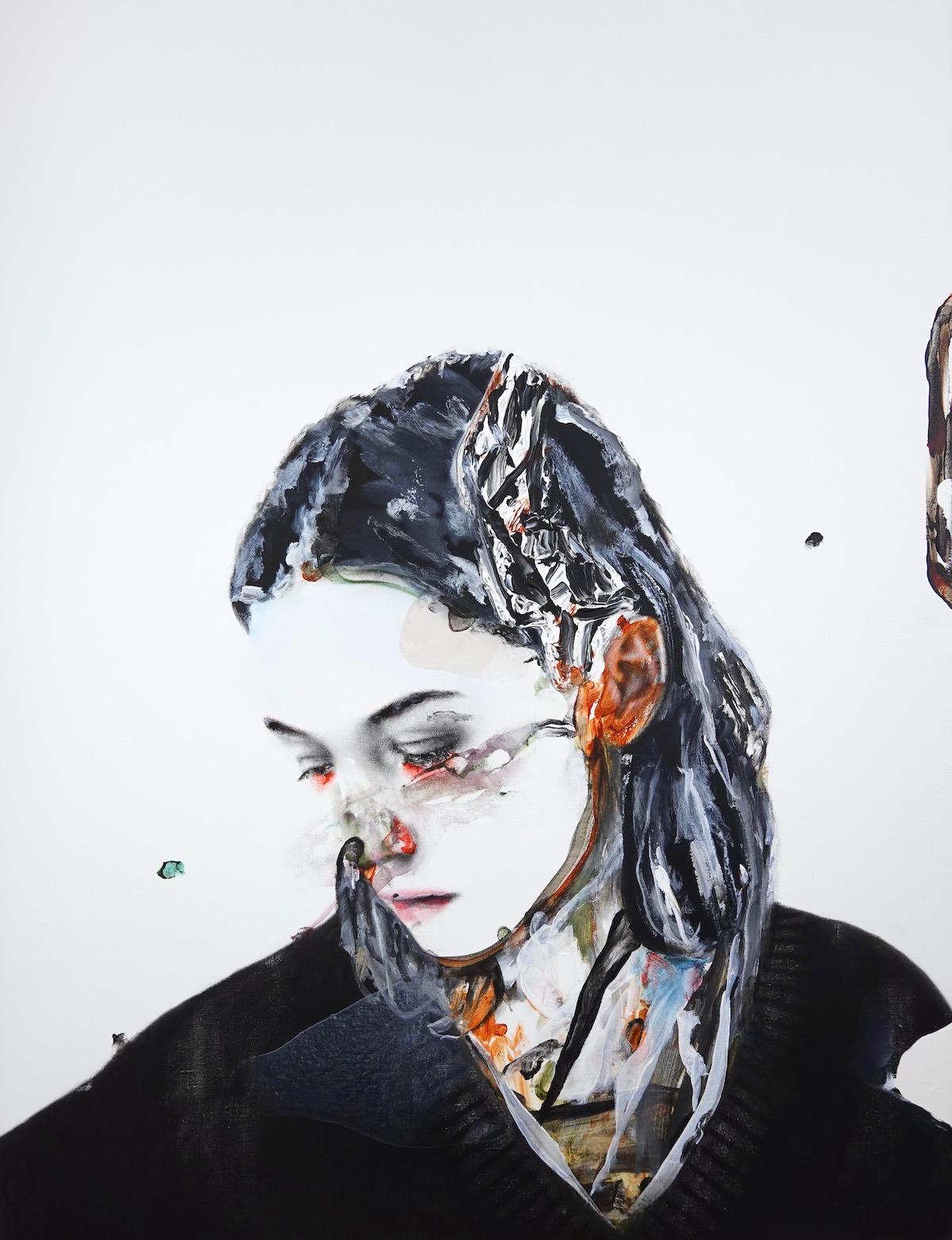antoine cordet canvas toile peinture painting portrait art artist artiste peintre acrylic oil I'm wearing two forests
