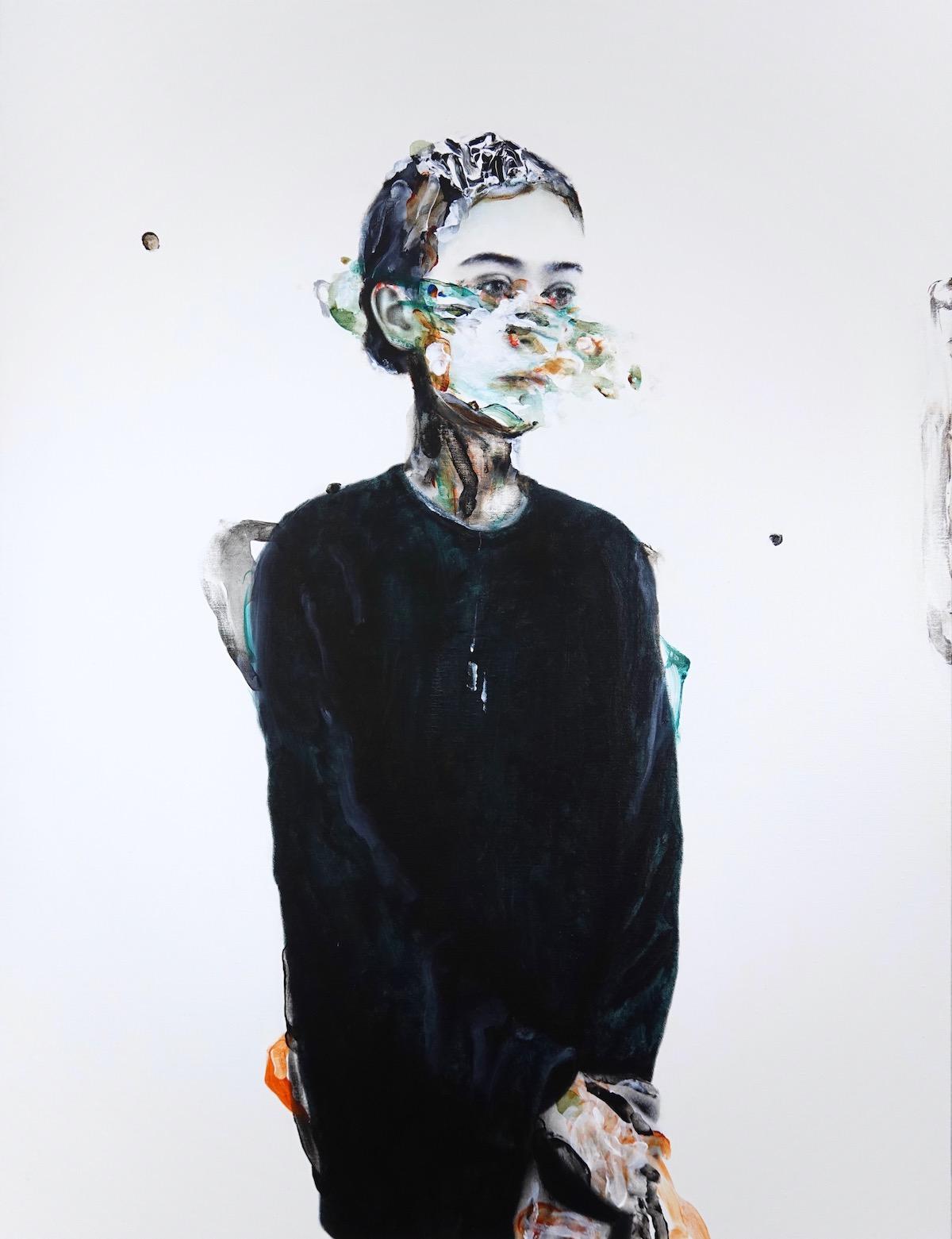 antoine cordet canvas toile peinture painting portrait art artist artiste peintre acrylic oil in rough seas