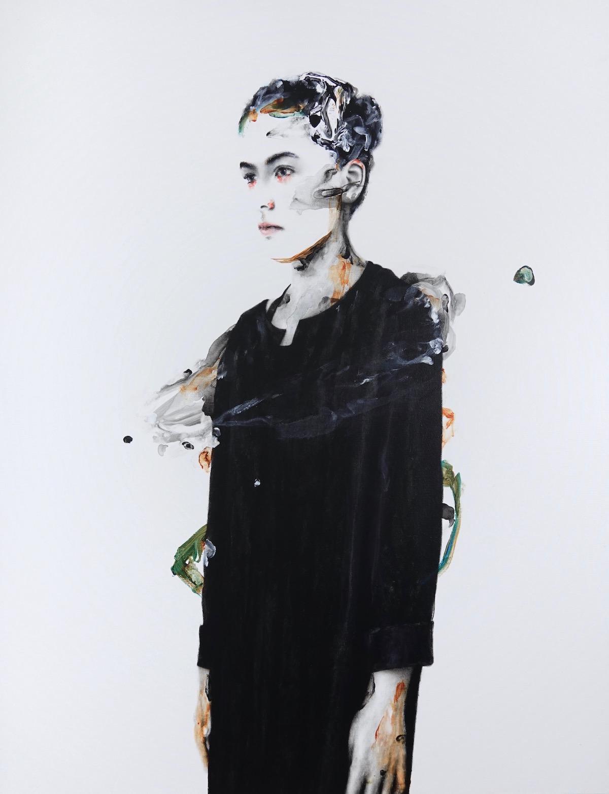 antoine cordet canvas toile peinture painting portrait art artist artiste peintre acrylic oil the smell of thoughts