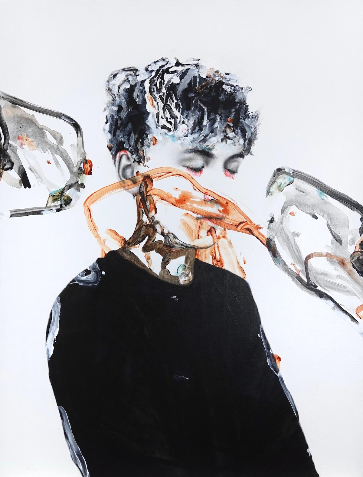 antoine cordet canvas toile peinture painting portrait art artist artiste peintre acrylic oil laudanum