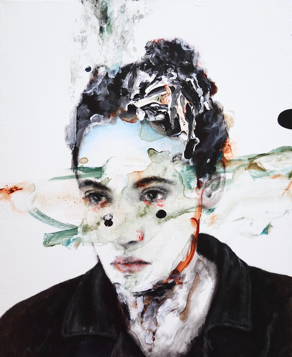 antoine cordet canvas toile peinture painting portrait art artist artiste peintre acrylic oil inside the stomach
