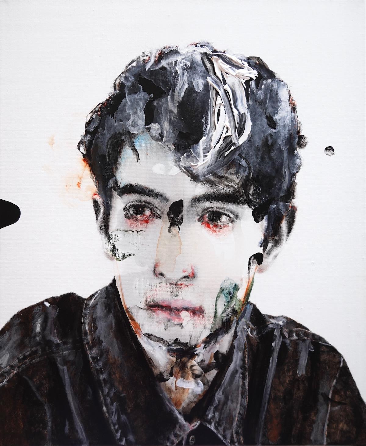 antoine cordet canvas toile peinture painting portrait art artist artiste peintre acrylic oil nine lives
